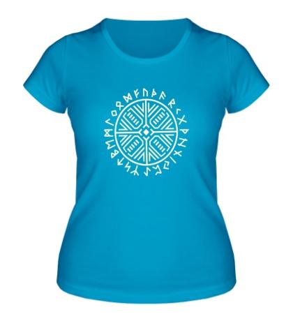 Женская футболка Рунический круг, свет