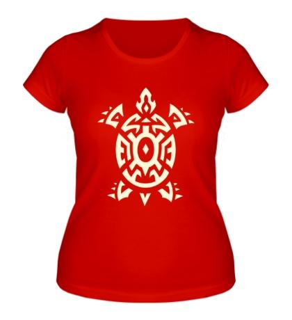 Женская футболка Черепаха тату, свет