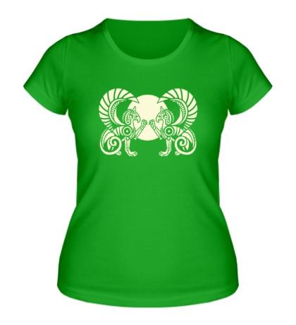 Женская футболка Гарпии: орнамент, свет