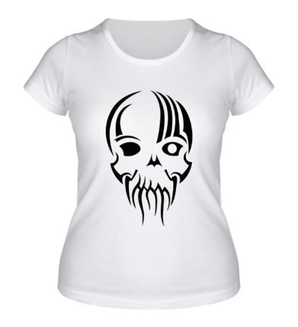 Женская футболка Тату-череп Ктулху