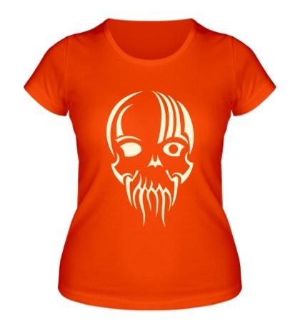 Женская футболка Тату-череп Ктулху, свет