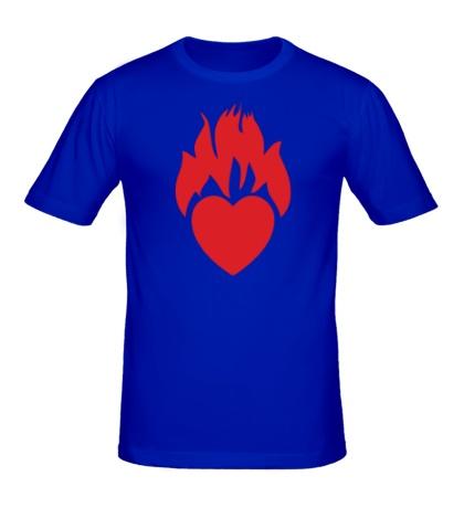 Мужская футболка Моё сердце горит