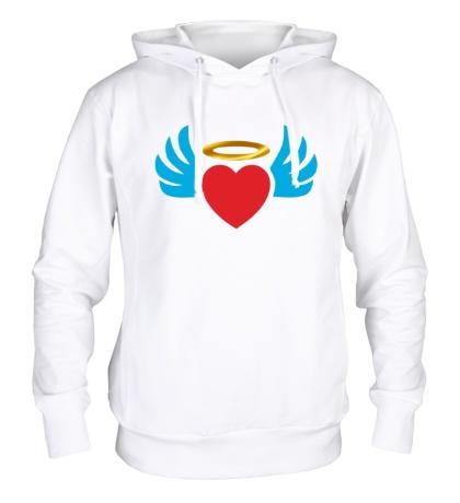Толстовка с капюшоном Ангельское сердце
