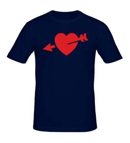 Мужская футболка Сердце со стрелой