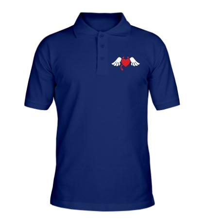 Рубашка поло Сердечко с рожками