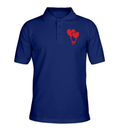Рубашка поло Сердечки-шарики