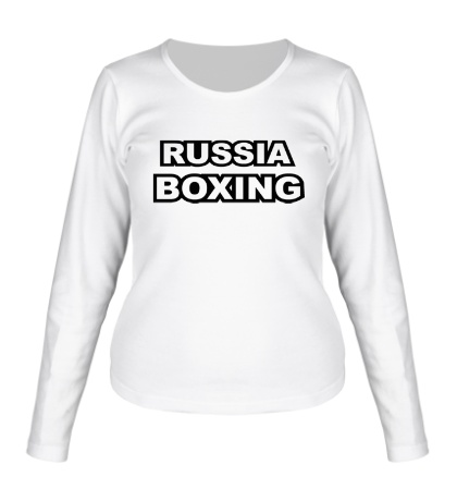 Женский лонгслив Russia Boxing