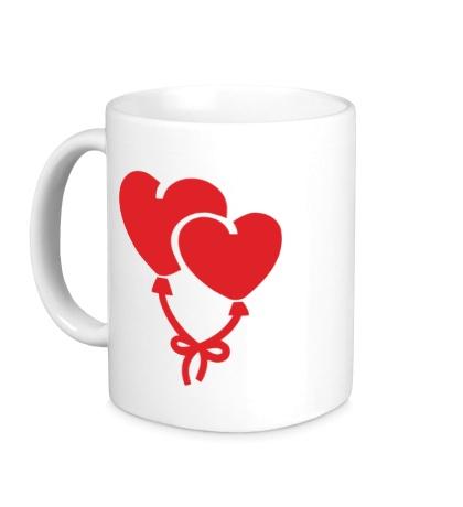 Керамическая кружка Сердечки-шарики