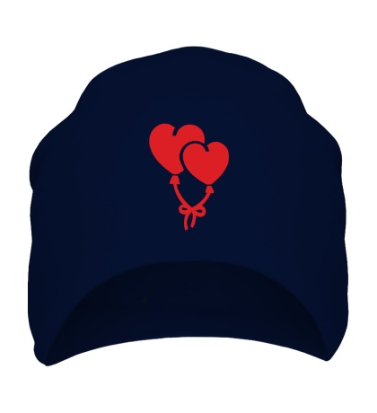 Шапка Сердечки-шарики