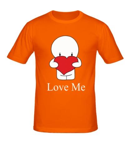 Мужская футболка Love me