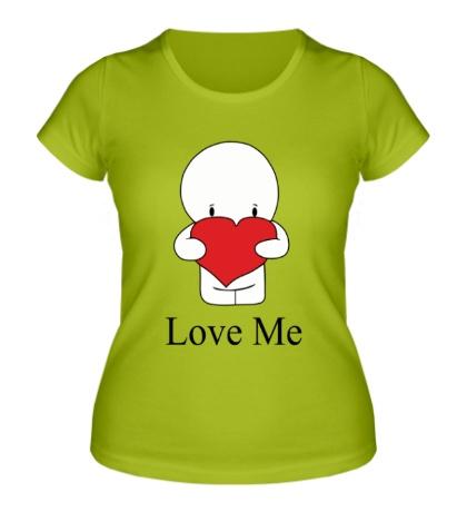 Женская футболка Love me