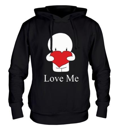 Толстовка с капюшоном Love me