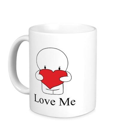 Керамическая кружка Love me