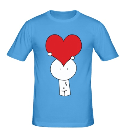 Мужская футболка Человечек с сердцем
