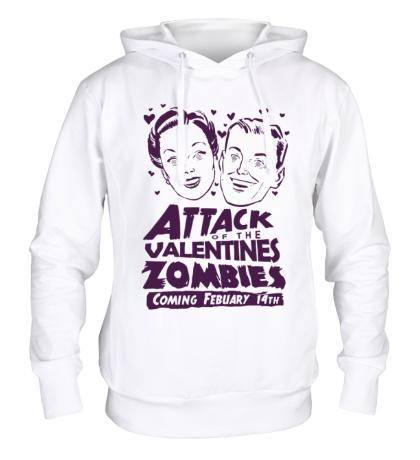 Толстовка с капюшоном Attack of the Valentines Zombies
