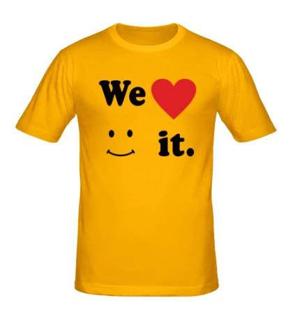 Мужская футболка We love it.