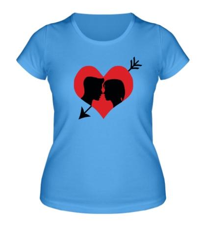 Женская футболка Ты в моем сердце