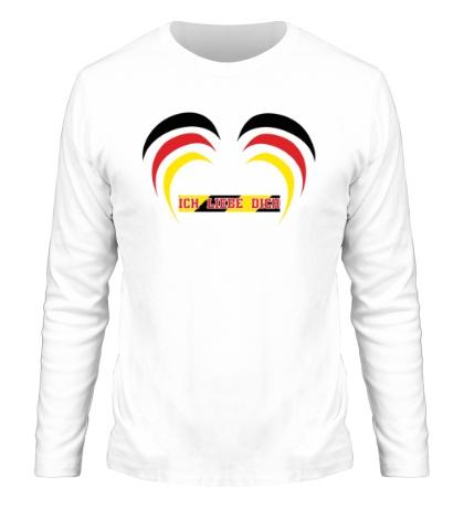 Мужской лонгслив Я люблю тебя Германия