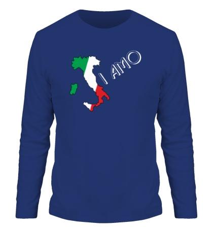 Мужской лонгслив Я люблю тебя Италия