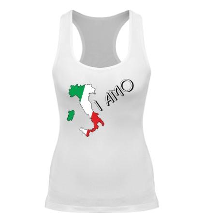Женская борцовка Я люблю тебя Италия