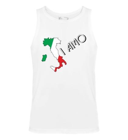 Мужская майка Я люблю тебя Италия