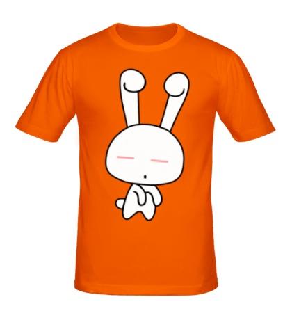 Мужская футболка Милая зайка