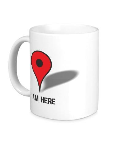 Керамическая кружка I am here