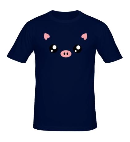Мужская футболка Свинка