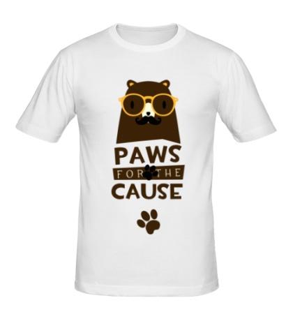 Мужская футболка Paws for the Cause