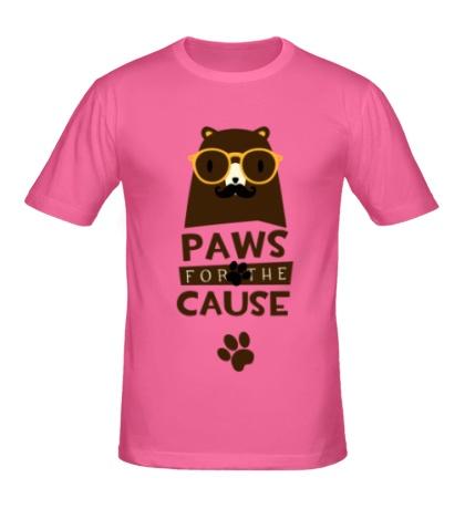 Мужская футболка «Paws for the Cause»