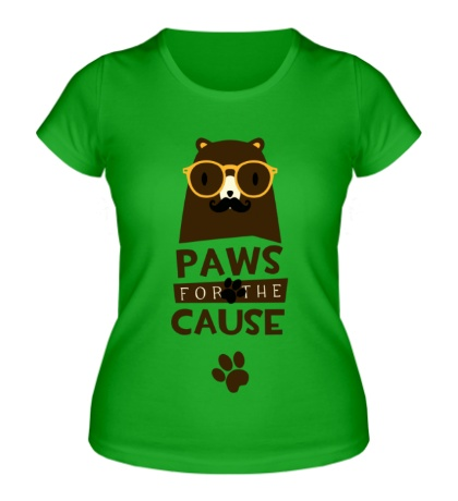Женская футболка Paws for the Cause