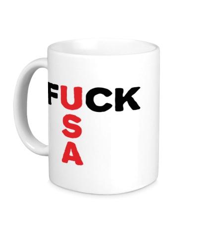 Керамическая кружка Fuck USA