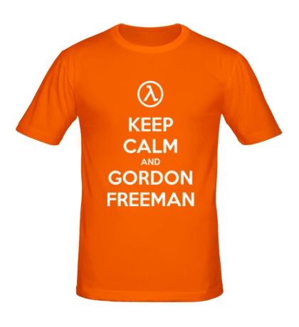 Мужская футболка Keep Calm & Gordon Freeman