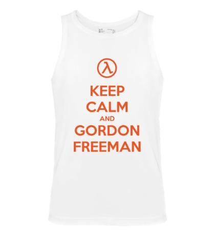 Мужская майка Keep Calm & Gordon Freeman