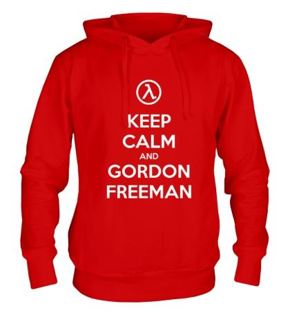 Толстовка с капюшоном Keep Calm & Gordon Freeman