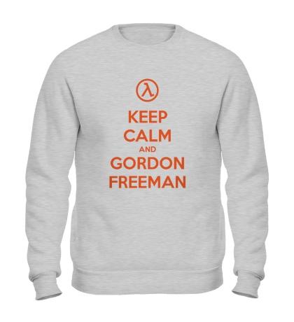Свитшот Keep Calm & Gordon Freeman