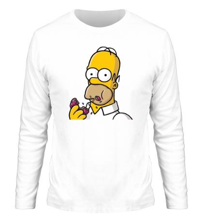 Мужской лонгслив Гомер с Пончиком