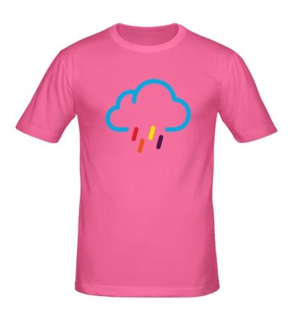 Мужская футболка Цветной дождик