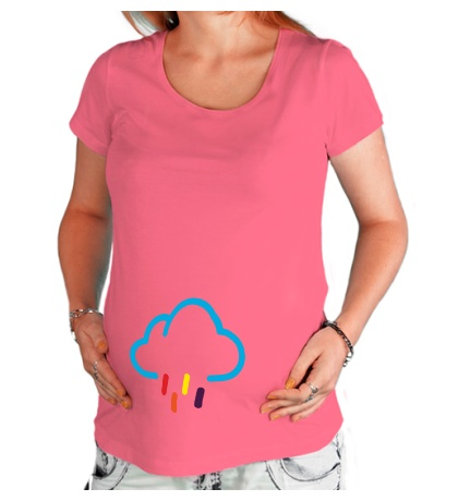Футболка для беременной Цветной дождик