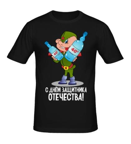 Мужская футболка Юный защитник отечества