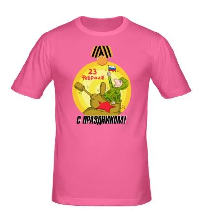 Мужская футболка Танкист, с 23 февраля