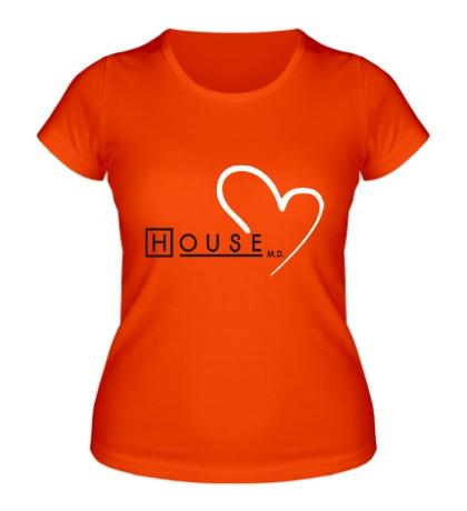 Женская футболка I love House MD