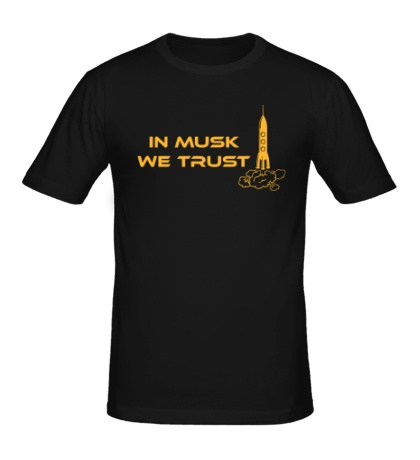 Мужская футболка In musk we trust