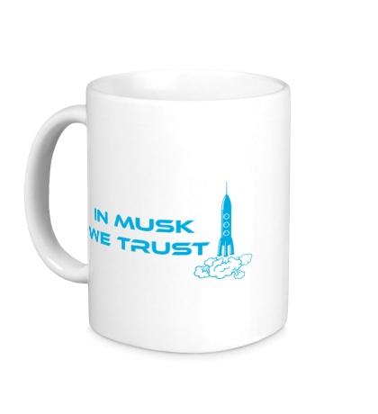Керамическая кружка In musk we trust