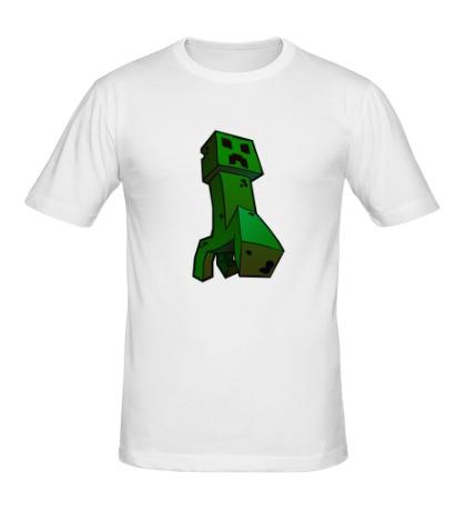Мужская футболка Зеленый Крипер