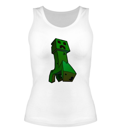 Женская майка Зеленый Крипер