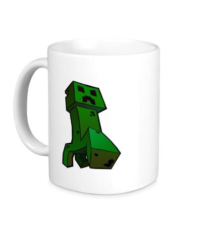Керамическая кружка Зеленый Крипер