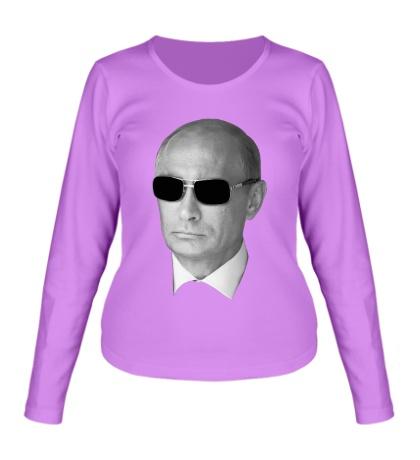 Женский лонгслив Путин в очках