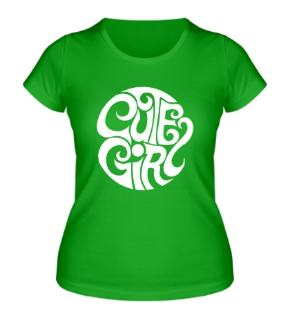 Женская футболка Cute girl