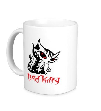 Керамическая кружка Bad kitty